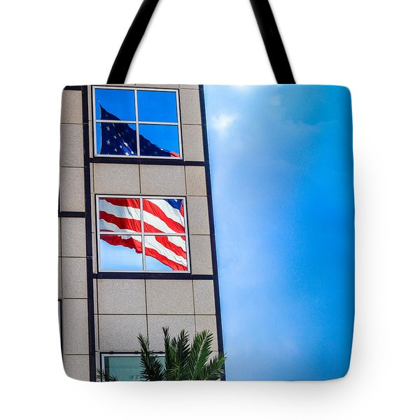 The Flag that Never Hides Tote Bag by Rene Triay Photography
