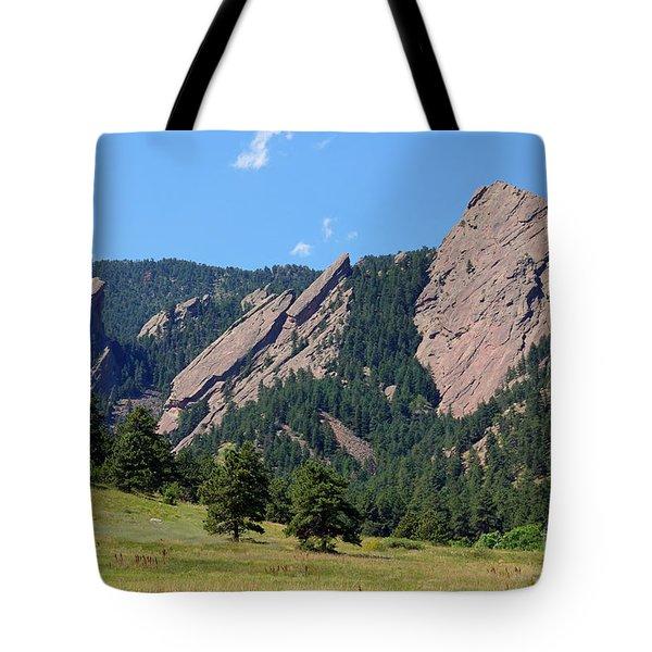 The Flatirons Tote Bag by Bob Hislop