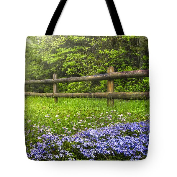The Forest Is Calling Tote Bag by Debra and Dave Vanderlaan