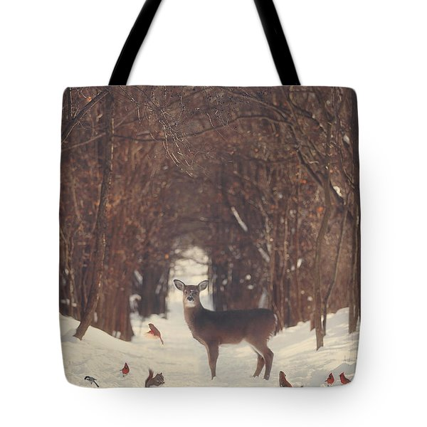 The Forest Of Snow White Tote Bag by Carrie Ann Grippo-Pike