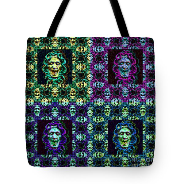 The Four Medusas 20130131 Tote Bag by Wingsdomain Art and Photography