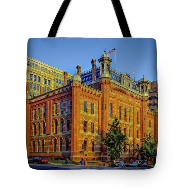 The Franklin School - Washington DC Tote Bag by Mountain Dreams