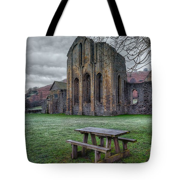 The Frosty Bench Tote Bag by Adrian Evans