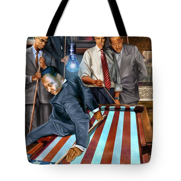 The Game Changers And Table Runners Tote Bag by Reggie Duffie