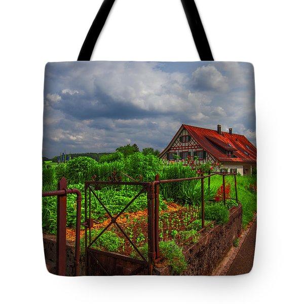The Garden Gate Tote Bag by Debra and Dave Vanderlaan