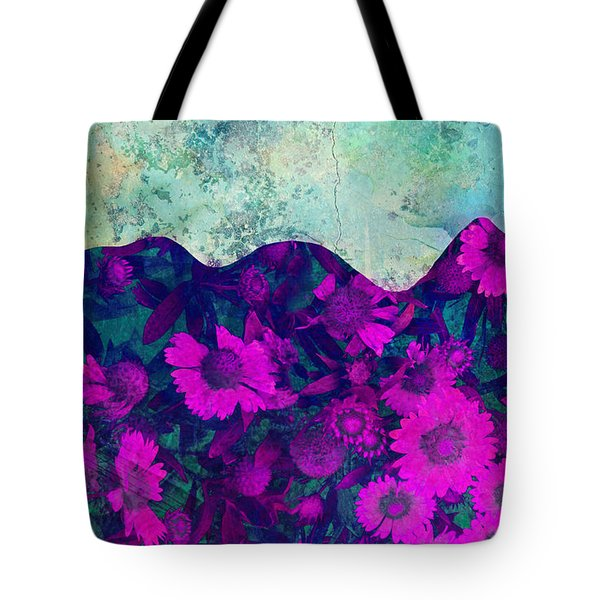 The Garden Wall Abstract Art Tote Bag by Ann Powell