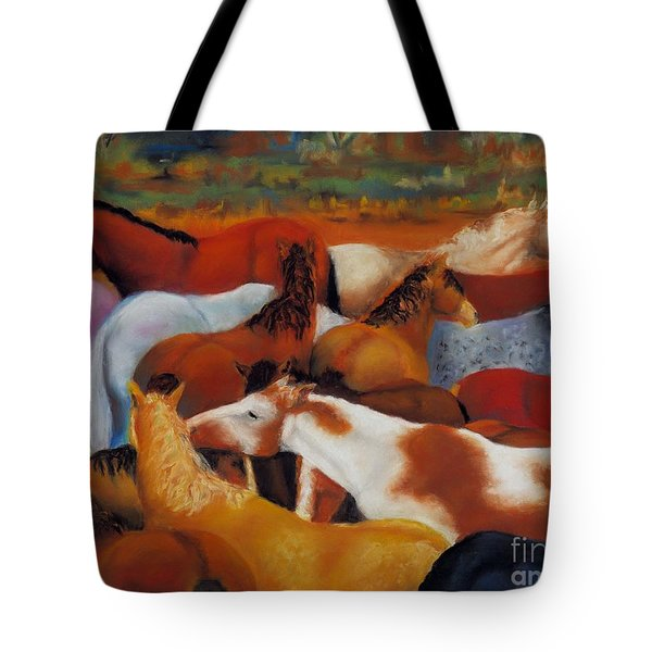The Gathering Tote Bag by Frances Marino