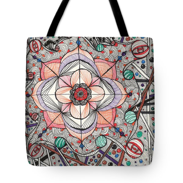 The Gathering Of Colors Tote Bag by Anita Lewis