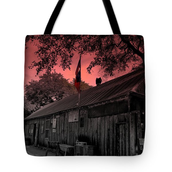 The General Store In Luckenbach Texas Tote Bag by Susanne Van Hulst