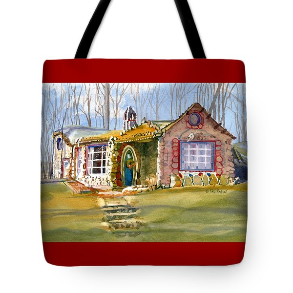 The Gingerbread House Tote Bag by Kris Parins