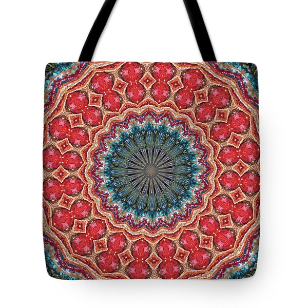 The Girl With Kaliedoscope Eyes Tote Bag by Alec Drake