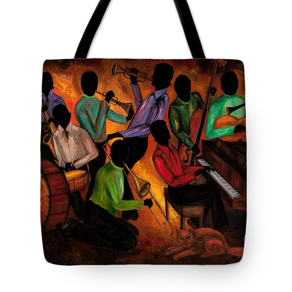 The Gitdown Hoedown Tote Bag by Larry Martin