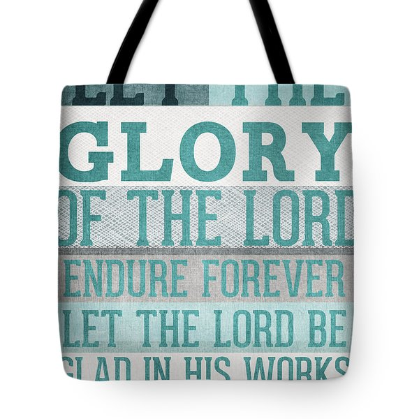 The Glory Of The Lord- Contemporary Christian Art Tote Bag by Linda Woods