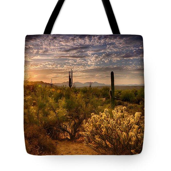 The Golden Southwest  Tote Bag by Saija  Lehtonen