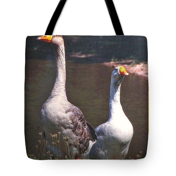 The Goose And The Gander Tote Bag by Patricia Keller