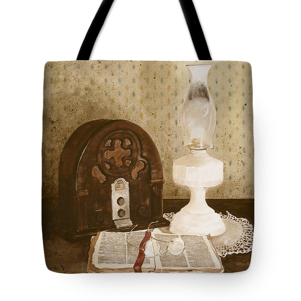 THE GOSPEL HOUR Tote Bag by Monte Toon