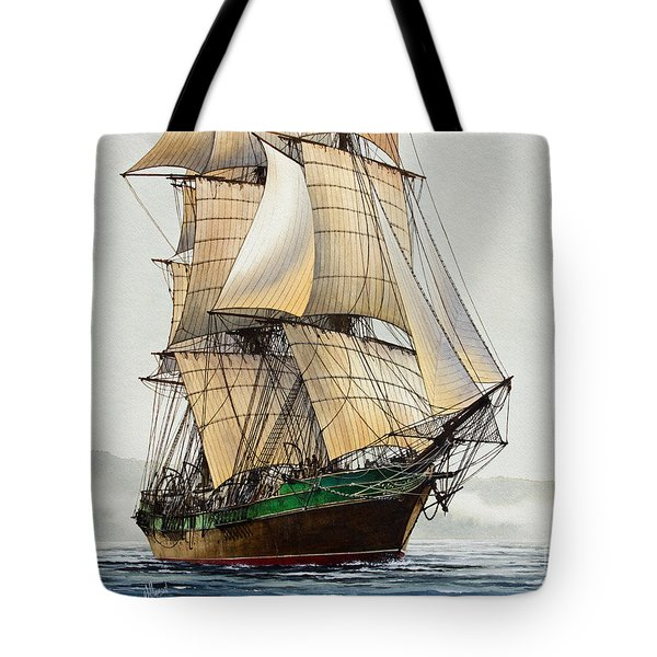 The Great Age Of Sail Tote Bag by James Williamson
