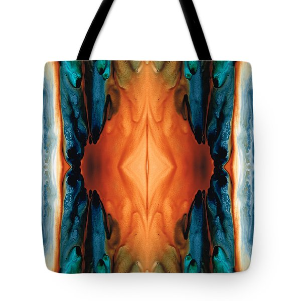 The Great Spirit - Abstract Art By Sharon Cummings Tote Bag by Sharon Cummings