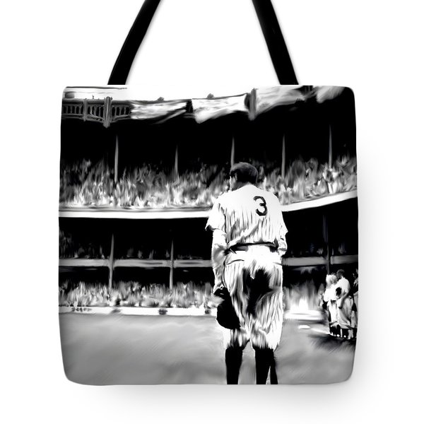 The Greatest Of All  Babe Ruth Tote Bag by Iconic Images Art Gallery David Pucciarelli