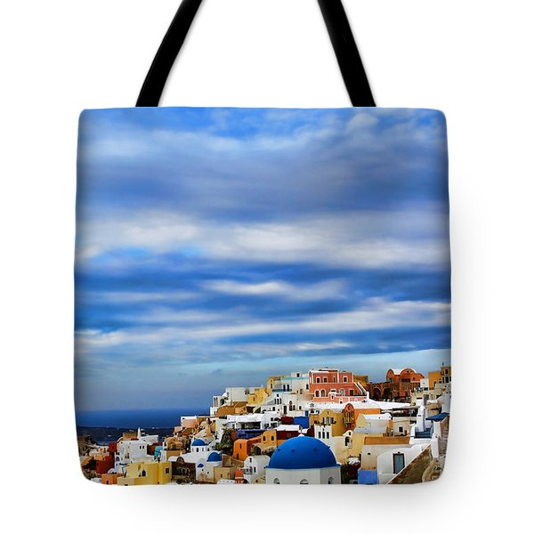 The Greek Isles-oia Tote Bag by Tom Prendergast