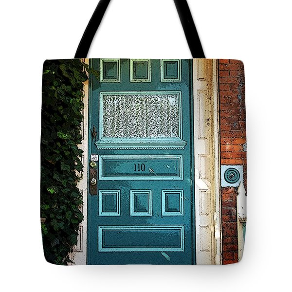 The Green Door Tote Bag by Kathleen Struckle