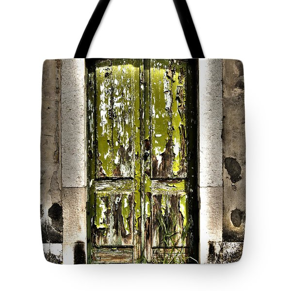 The Green Door Tote Bag by Marco Oliveira