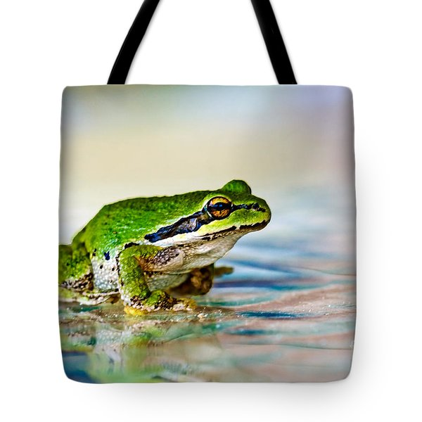 The Green Frog Tote Bag by Robert Bales
