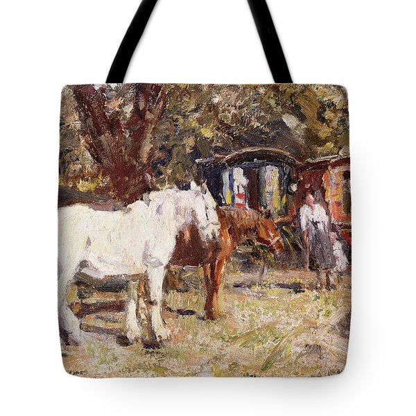 The Gypsy Encampment Tote Bag by Harry Fidler