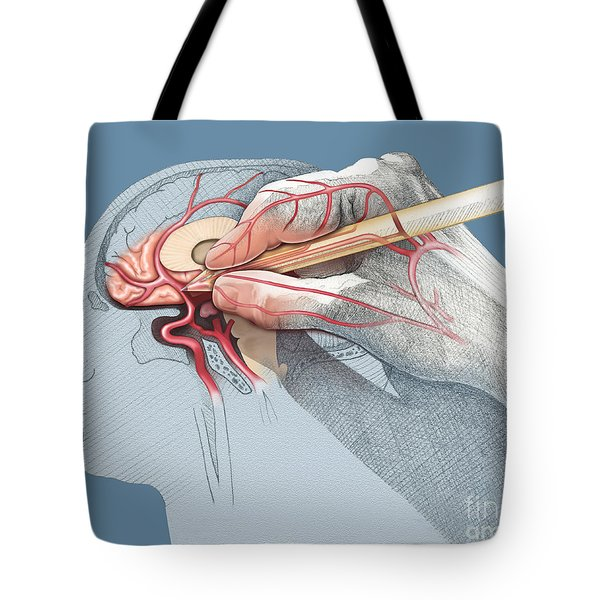 The Hand Knows Tote Bag by Catherine Twomey