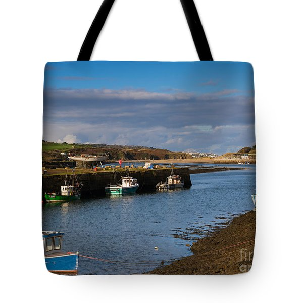 The Harbour At Hayle Cornwall Tote Bag by Louise Heusinkveld