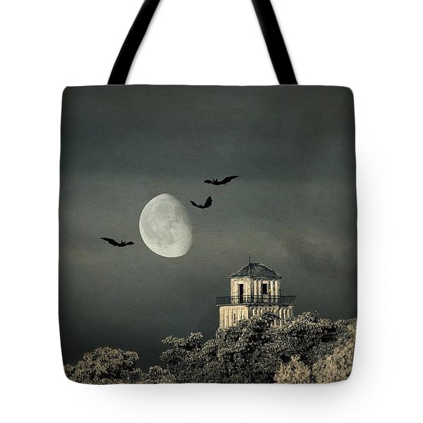 The haunted house Tote Bag by Heike Hultsch