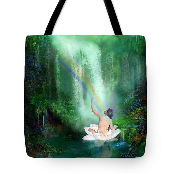 The Healing Place Tote Bag by Carol Cavalaris