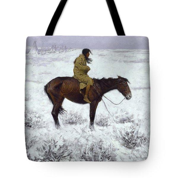 The Herd Boy Tote Bag by Fredrick Remington