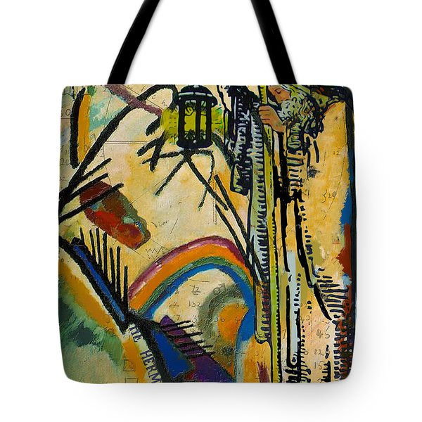 The Hermit Tarot Card Tote Bag by Corporate Art Task Force