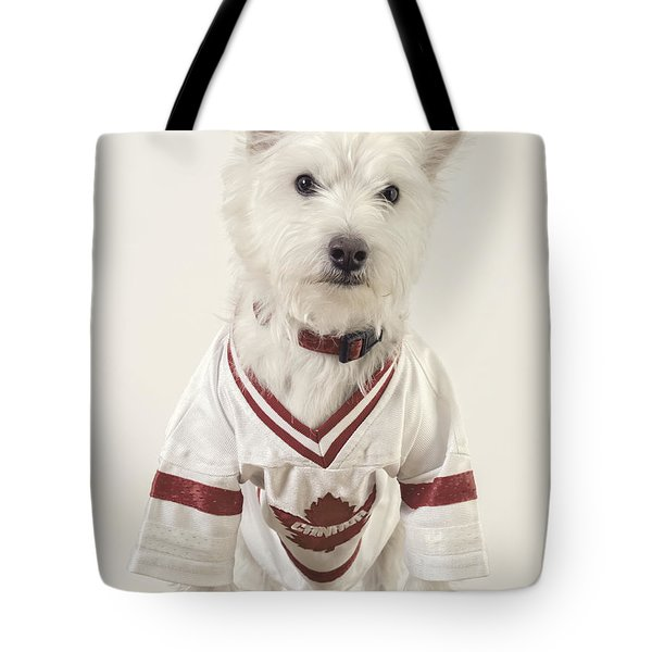 The Hockey Player Tote Bag by Edward Fielding