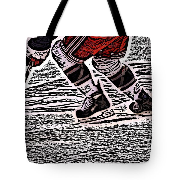 The Hockey Player Tote Bag by Karol Livote