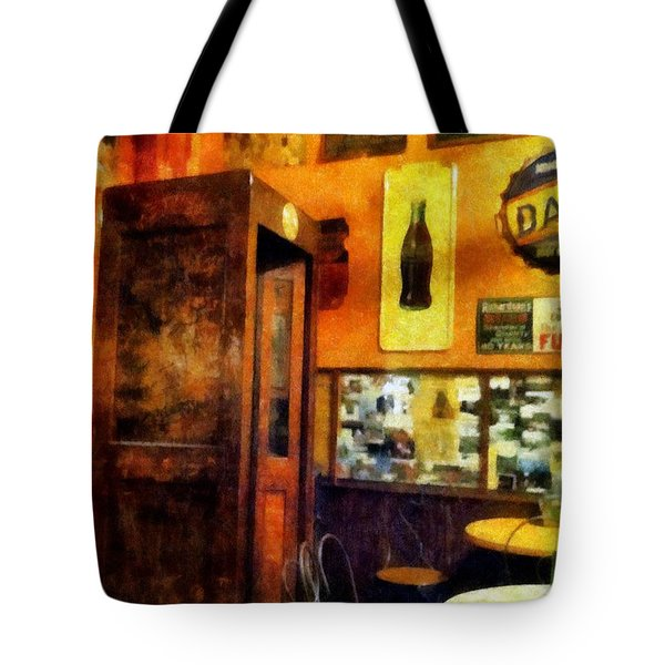 The Hot Dog Shop Tote Bag by Michelle Calkins