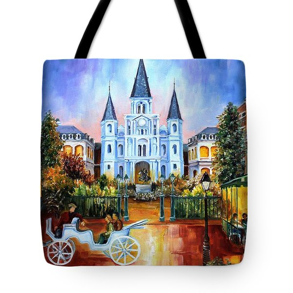 The Hours On Jackson Square Tote Bag by Diane Millsap