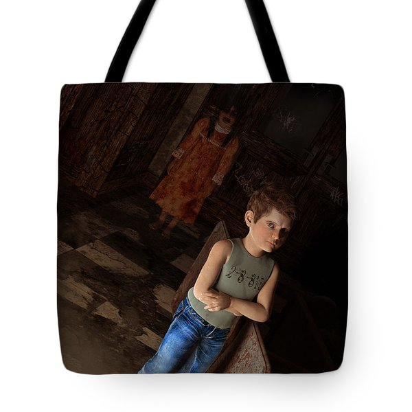 The House of Anguish Tote Bag by Liam Liberty