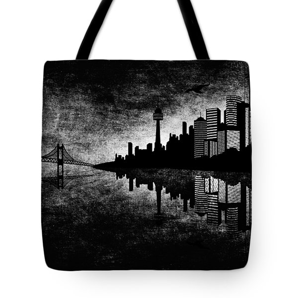 The Hubris Of Mankind Bw Tote Bag by Angelina Vick
