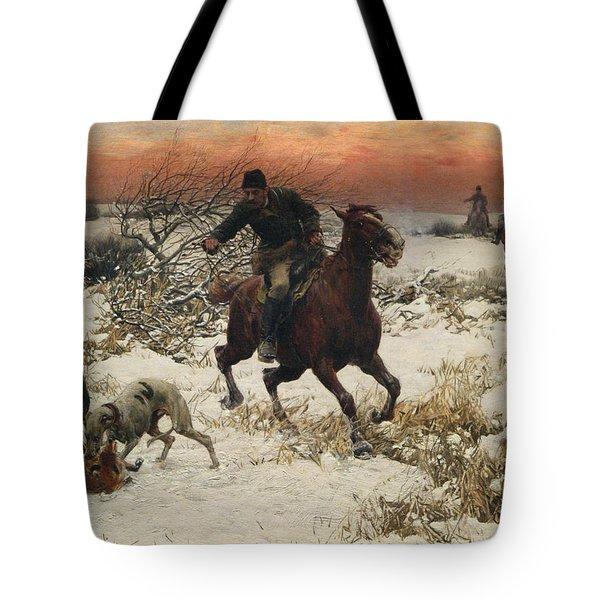 The Hunters Tote Bag by A Wierusz Kowalski