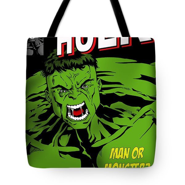 The Incredible Hulk Tote Bag by Mark Rogan