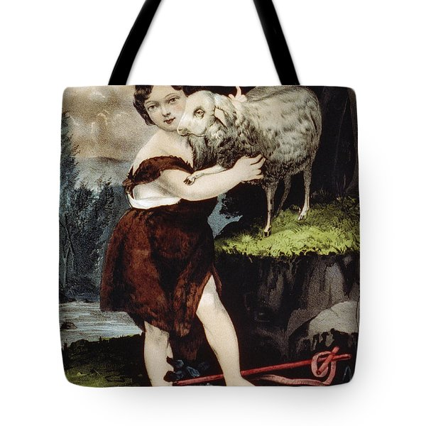 The Infant Saint John Tote Bag by Aged Pixel