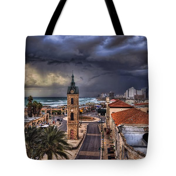 the Jaffa old clock tower Tote Bag by Ronsho