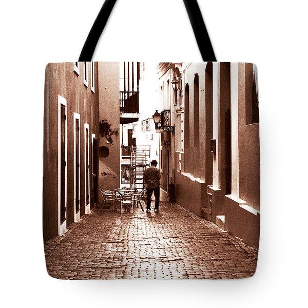 The Jazz Man Tote Bag by John Rizzuto