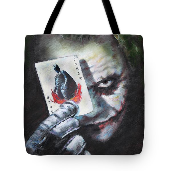 The Joker Heath Ledger  Tote Bag by Viola El