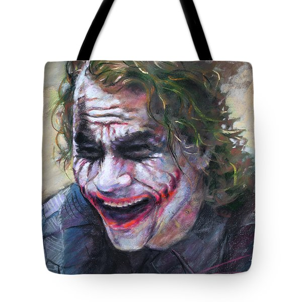 The Joker Heath Ledger  sm Tote Bag by Ylli Haruni