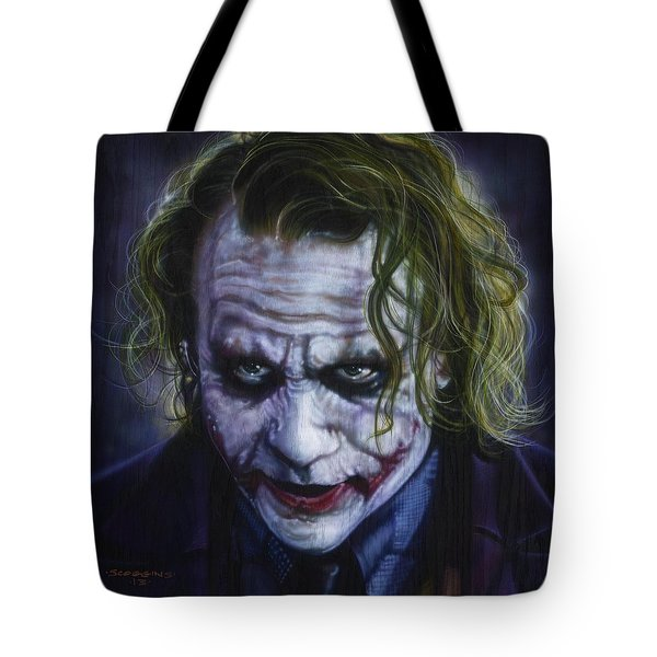 The Joker Tote Bag by Tim  Scoggins