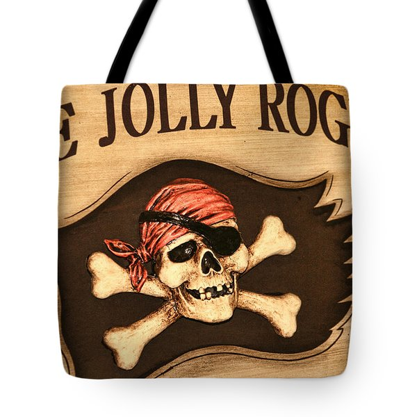 The Jolly Roger Tote Bag by Kathy Clark