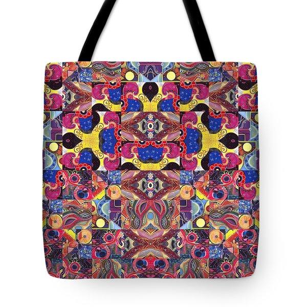 The Joy Of Design Mandala Series Puzzle 3 Arrangement 6 Tote Bag by Helena Tiainen